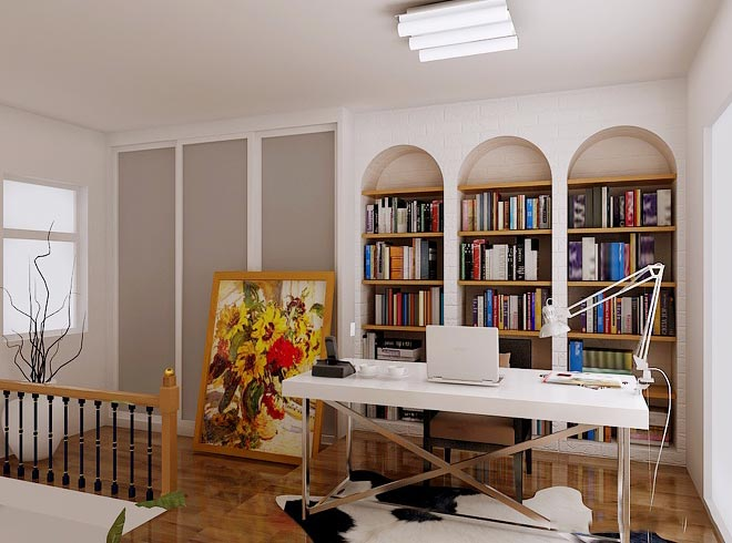 阁楼书房图片