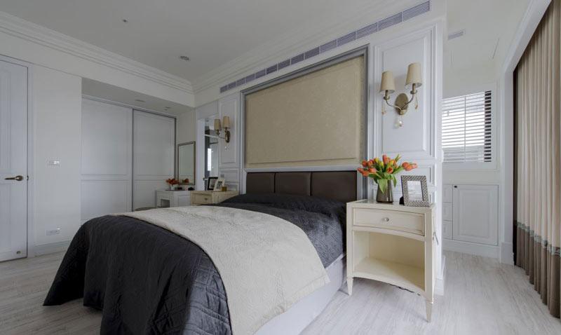 美式别墅温馨卧室装修效果图