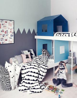 北欧风格儿童房儿童床图片