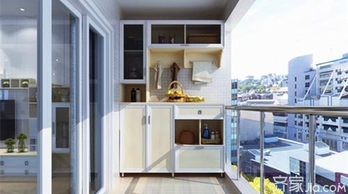 阳台柜这样设计很精致 你家有吗图片