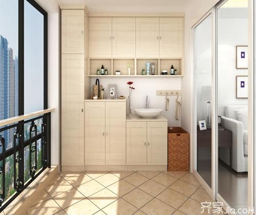 资讯 学堂 软装搭配 家具选购 正文  这款阳台柜子采用的是100%纯柞木图片