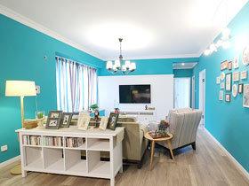 蓝调布鲁斯 75平米小户型公寓装修效果图