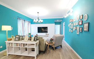 清爽地中海风情 蓝色客厅效果图