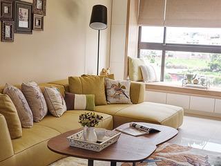 欧式风格芥末绿客厅沙发效果图