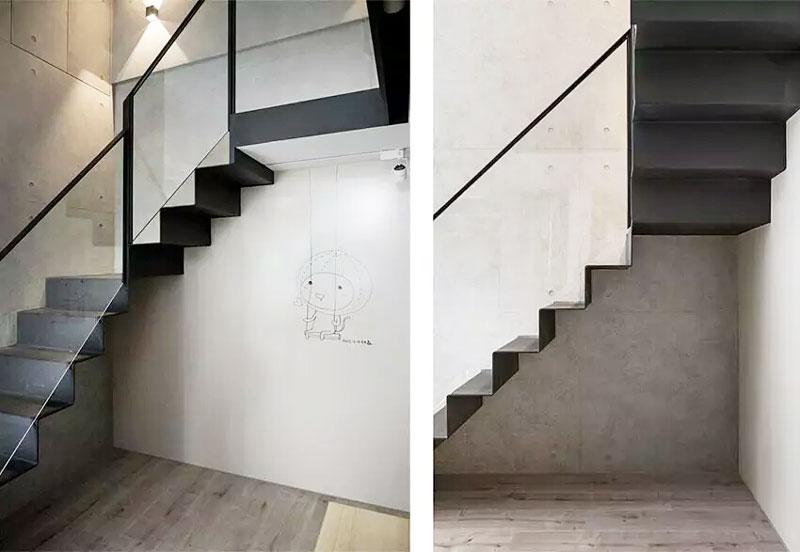40平单身公寓楼梯装修