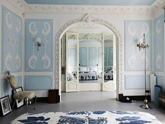 梦幻地中海蓝白色卧室装修效果图
