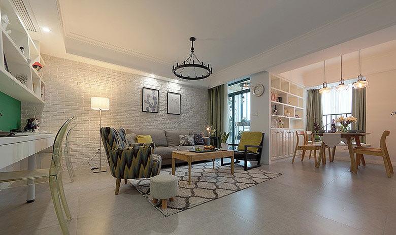 简欧风格白色客厅吊顶装修效果图