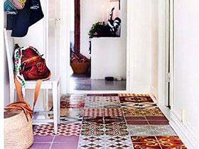 当花瓷砖走出卫浴 10个地板瓷砖设计图