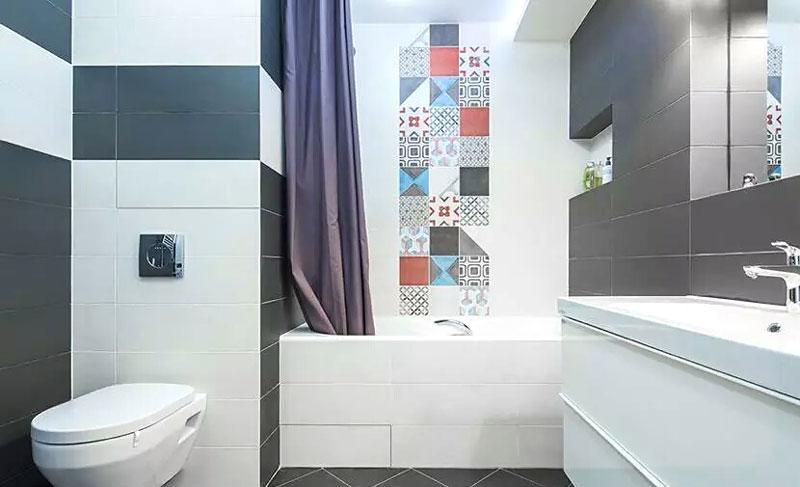 40平米单身公寓卫生间效果图