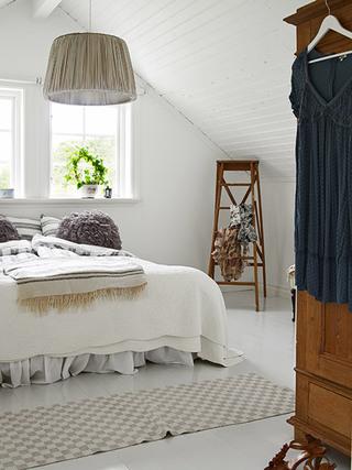 北欧风格清新白色卧室装修效果图