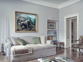 一房一名画 130平新古典两居室装修图片