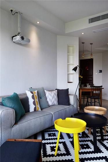 北欧风格小户型客厅吊顶装修效果图图片