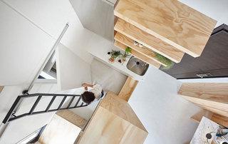 30平米错层迷你小屋厨房橱柜装修