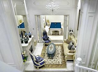 奢华大气法式别墅 客厅俯瞰图
