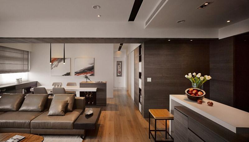 新中式风格客厅过道装修效果图