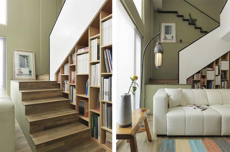 自然风格沙发后楼梯装修效果图