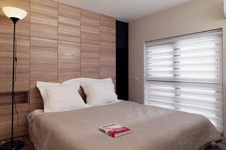 温馨宜家风主卧室 原木背景墙设计