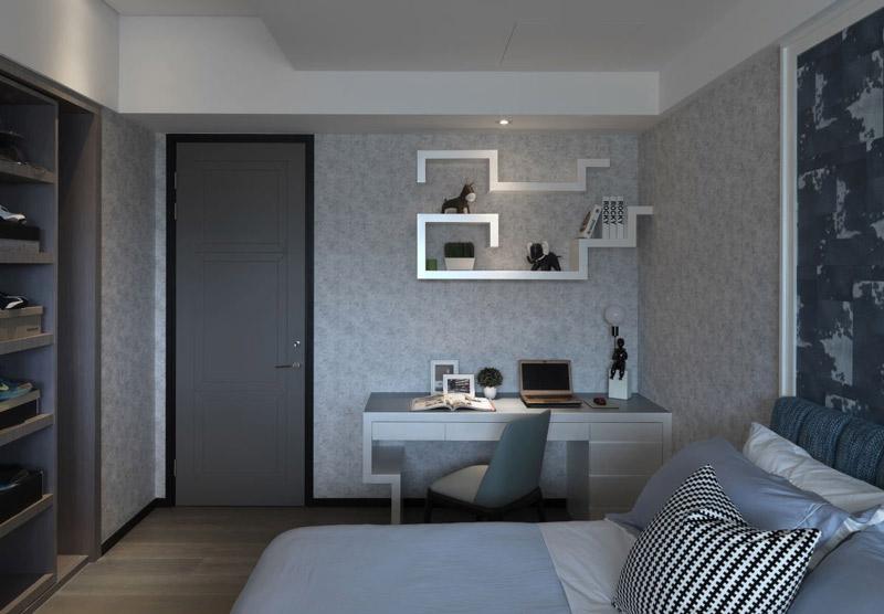 法式优雅蓝色卧室装修效果图