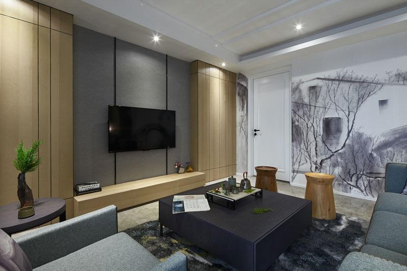 新中式时尚韵味客厅装修效果图