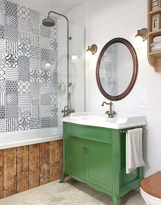 北欧风格单身公寓浴室柜图片