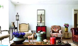 东南亚风情客厅沙发设计图