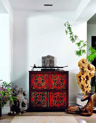 异域东南亚风情玄关柜图片