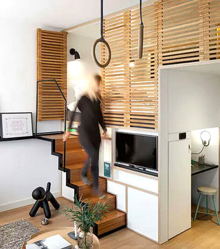 森系宜家风跃层楼梯设计