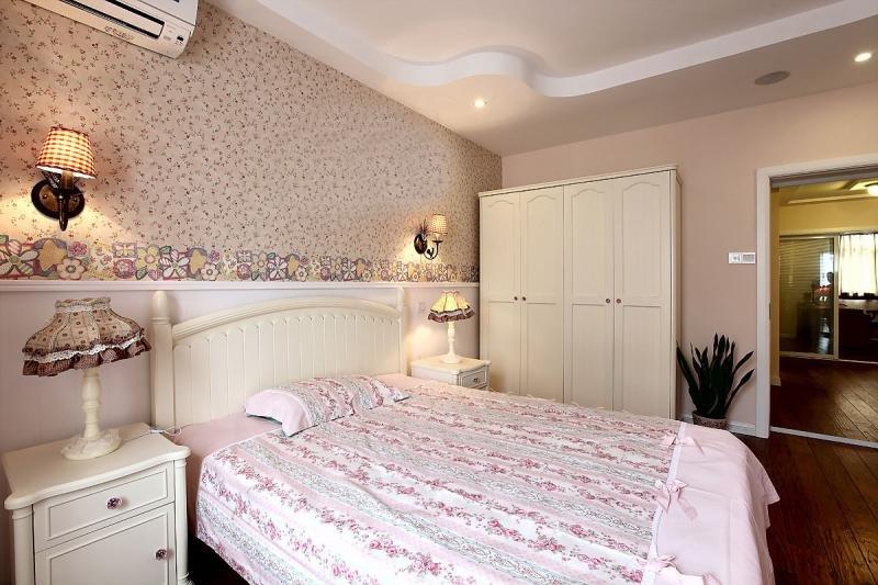 田园风格粉红色卧室装修效果图