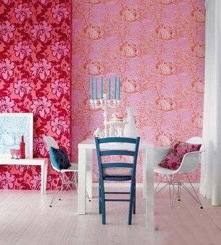 粉色餐厅效果图