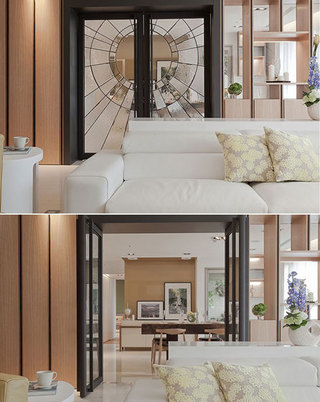 沙发背景墙门装修效果图
