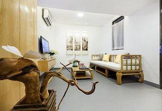 中式风格超小户型客厅吊顶装修效果图