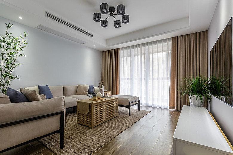 简约风格白色客厅吊顶装修效果图