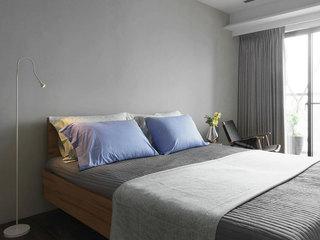 灰色系简约风卧室背景墙设计