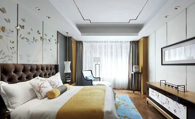 华丽新中式卧室装修效果图