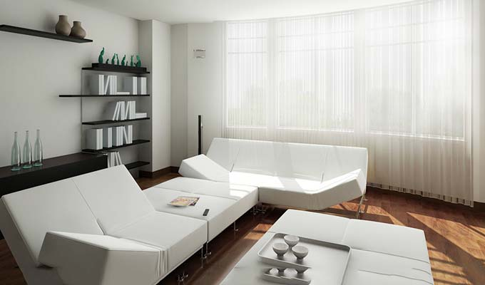 白色起居室图片大全