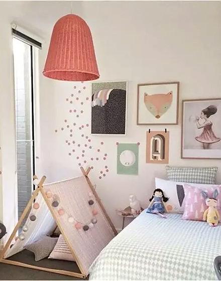 宜家风格可爱儿童房儿童床图片