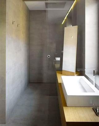 舒适工业风格小卫生间装修图