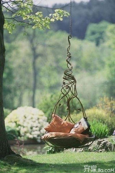春日来临 休闲吊椅享受温暖时光