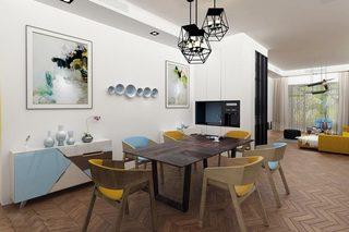 现代简约清新色彩餐厅装饰图片