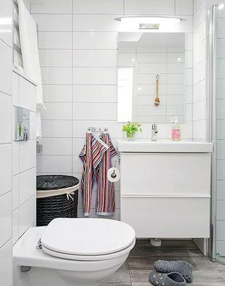 37.5平米单身公寓浴室柜图片
