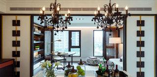 中式东南亚餐厅吊灯装饰效果图