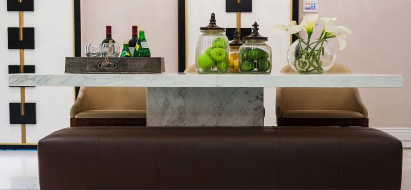 中式东南亚大理石餐桌桌面设计