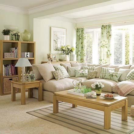 小清新风格客厅装饰图