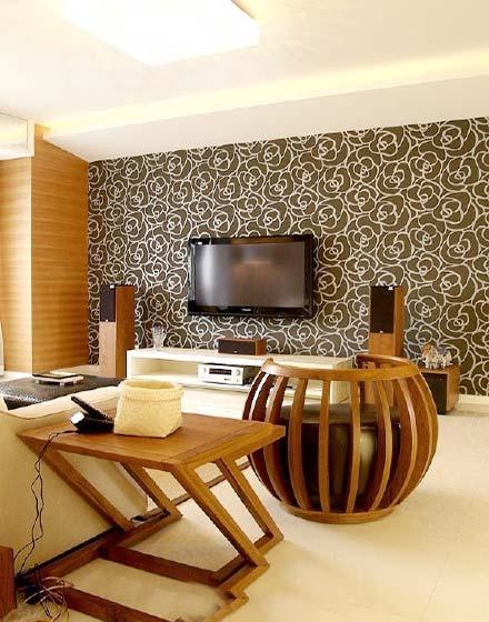 现代电视背景墙装修设计图