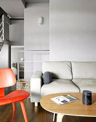 99平小复式客厅木质茶几图