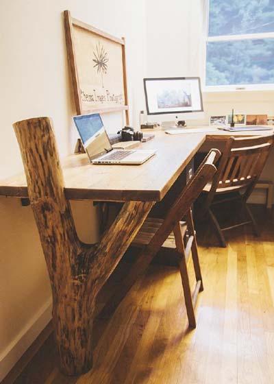 转角书桌装修装饰效果图