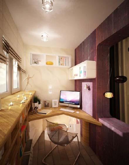 转角书桌装饰设计图片