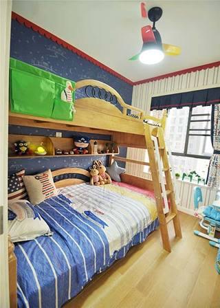经典美式儿童房双人床设计