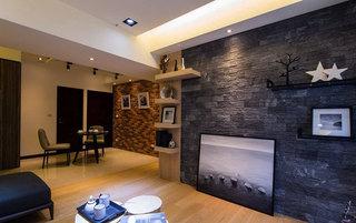 轻工业混搭 水泥砖电视背景墙设计