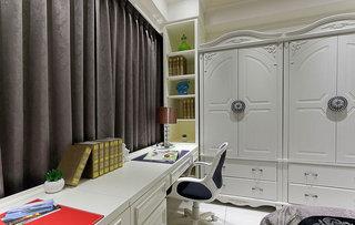 优雅主卧室飘窗改书桌设计效果图